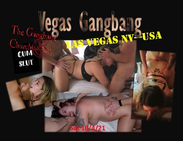 COCK NEEDED ! Las Vegas Gangbang for GlamClam